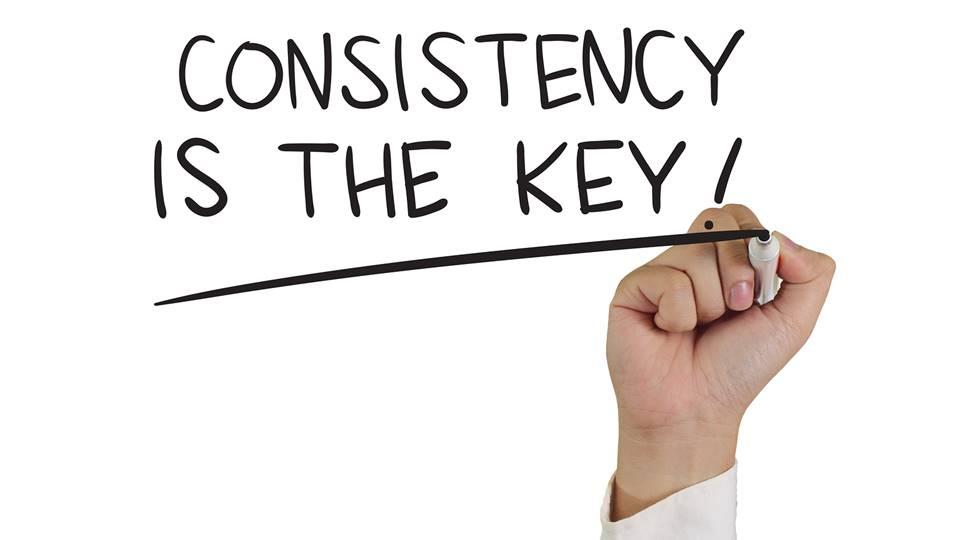 Konsisten adalah kunci