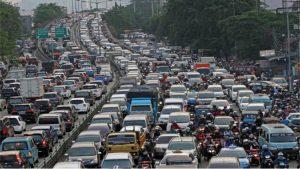kemacetan lalu lintas kota besar