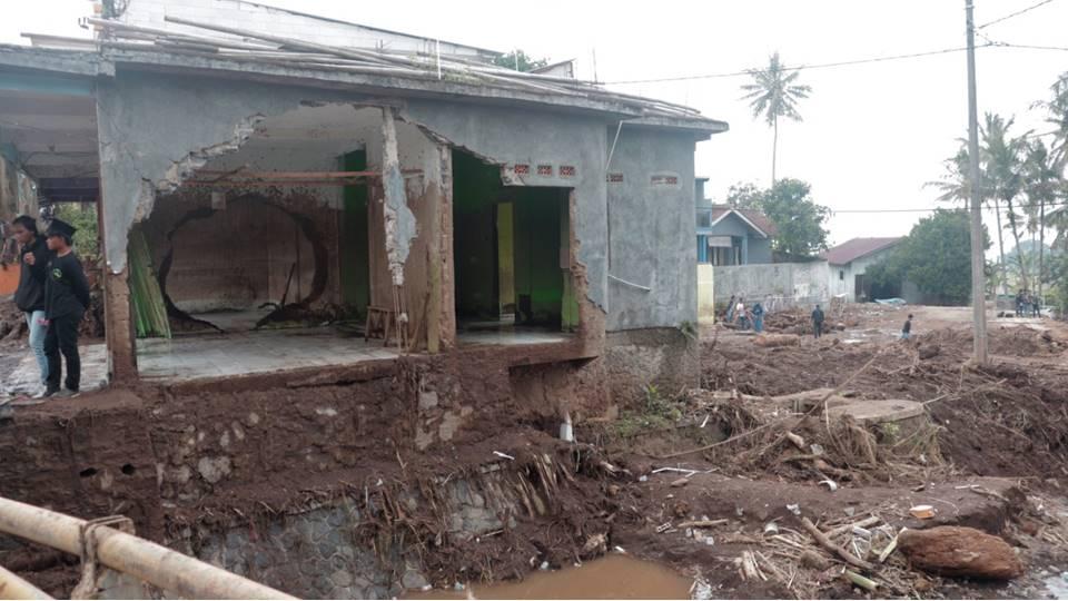 Keadaan Lokasi Banjir Bandang Sukabumi